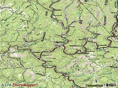 Mullens topographic map