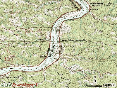 New Martinsville topographic map