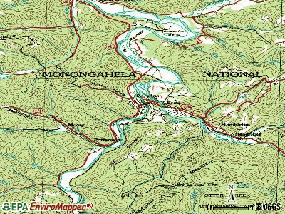 Parsons topographic map