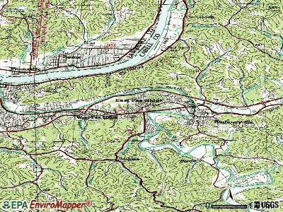 Pea Ridge topographic map