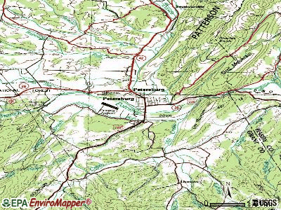 Petersburg topographic map