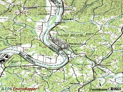 Rainelle topographic map