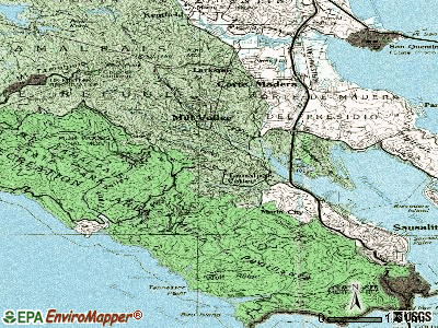 Tamalpais-Homestead Valley topographic map