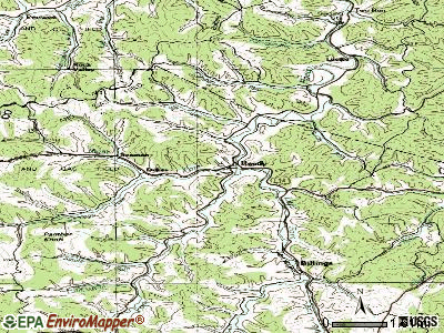 Rhodell topographic map