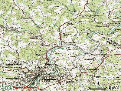 Rivesville topographic map