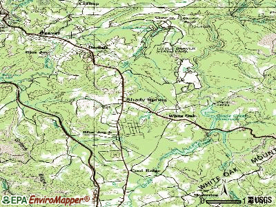 Rupert topographic map