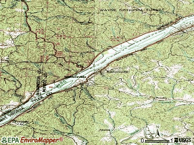 Sistersville topographic map