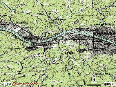 South Charleston topographic map