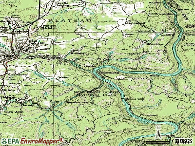 Thurmond topographic map
