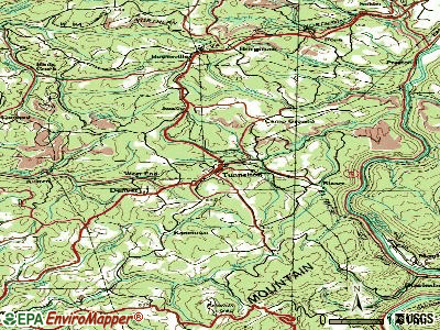 Tunnelton topographic map