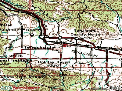 Tehachapi topographic map