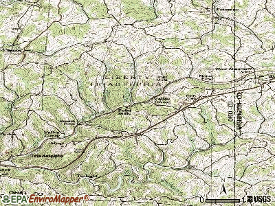 Valley Grove topographic map