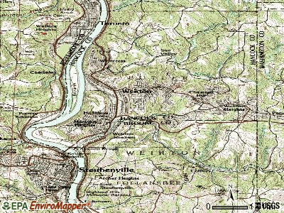 Weirton topographic map