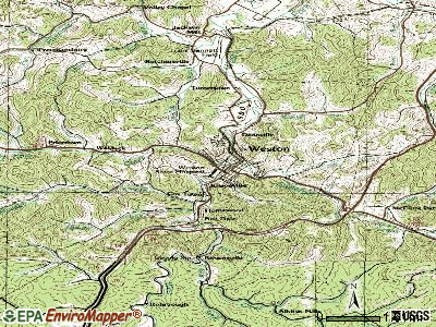 Weston topographic map
