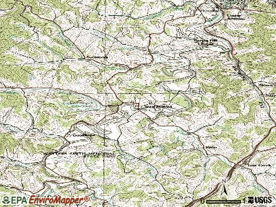 Wheeling topographic map