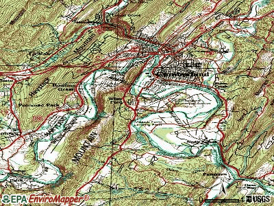 Wiley Ford topographic map