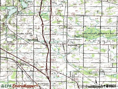 Jackson topographic map