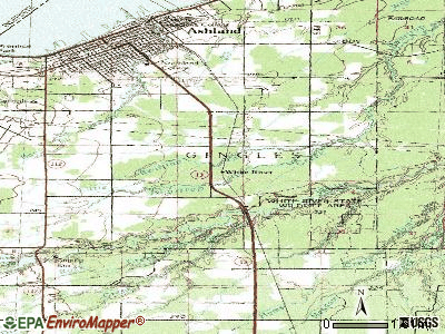 White River topographic map
