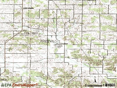 Dallas topographic map