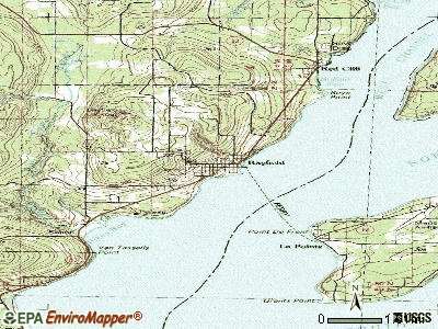 Bayfield topographic map
