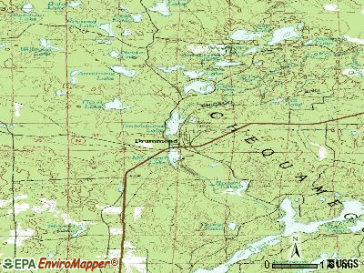 Drummond topographic map
