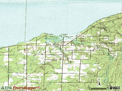 Port Wing topographic map