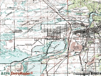 Thermalito topographic map