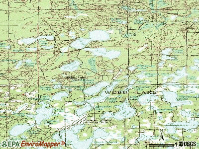 Webb Lake topographic map
