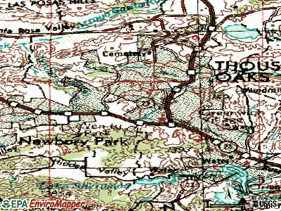 Thousand Oaks topographic map