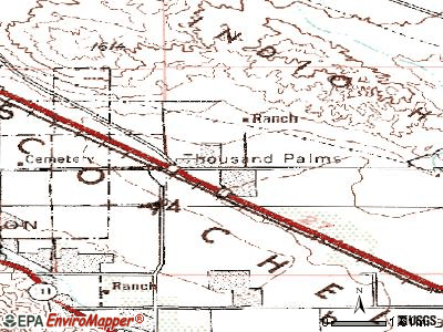 Thousand Palms topographic map