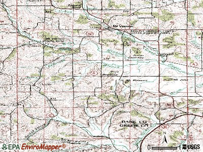 Primrose topographic map