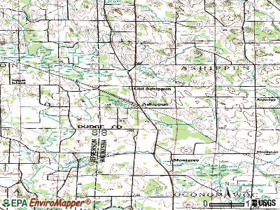 Ashippun topographic map