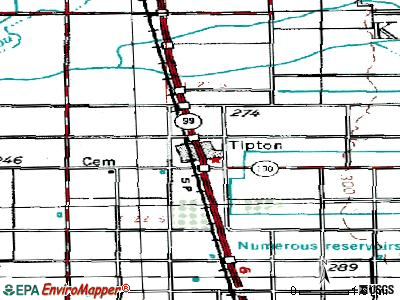 Tipton topographic map