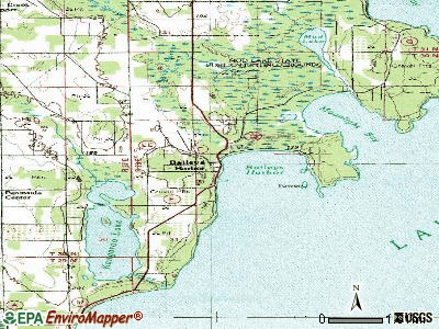 Baileys Harbor topographic map