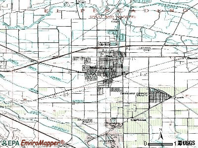 Tracy topographic map