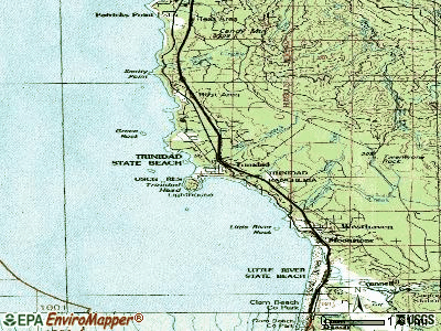 Trinidad topographic map