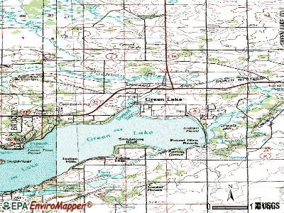 Green Lake topographic map