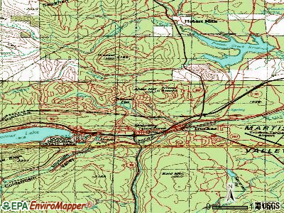 Truckee topographic map