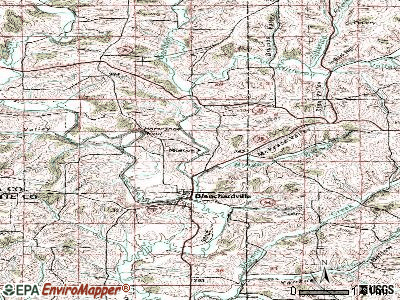 Moscow topographic map