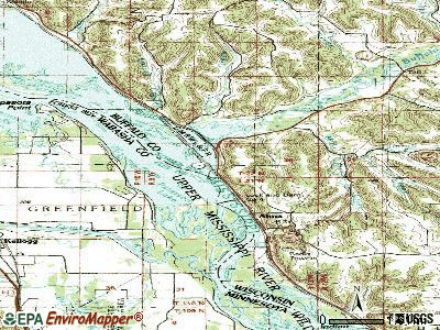 Alma topographic map