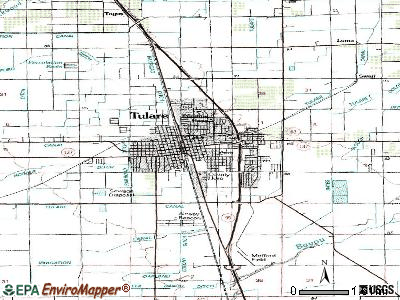 Tulare topographic map