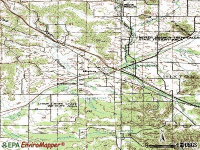 Hixton topographic map