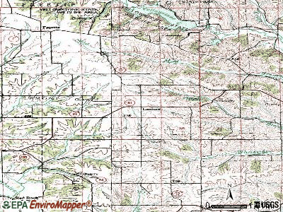 Lamont topographic map