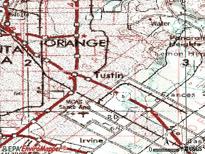 Tustin topographic map