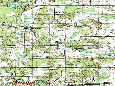 Pine River topographic map