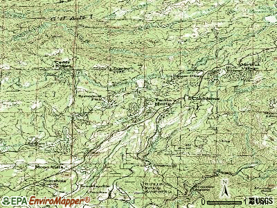 Twain Harte topographic map
