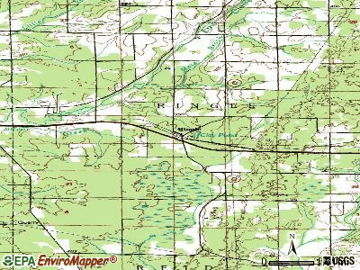 Ringle topographic map