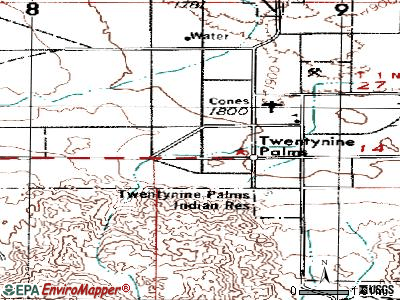 Twentynine Palms topographic map