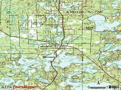 Woodruff topographic map