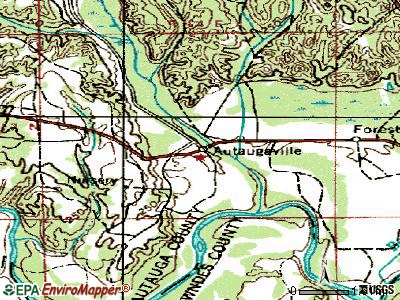 Autaugaville topographic map